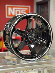 Vms Racing 15x7 5x114 3 Offset 30 Gloss Black Milling Finish Set Of 2 Wheels