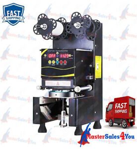 Commercial 360w Automatic Tall Cup Sealing Machine For Tea fruit Juice