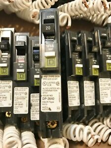 One 1 New No Box Square D Qob120cafi Circuit Breaker 1p 20a Bolt on Best Price