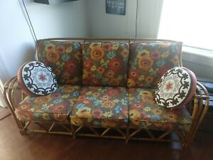 Heywood Wakefield Bamboo Couch And Chair Set