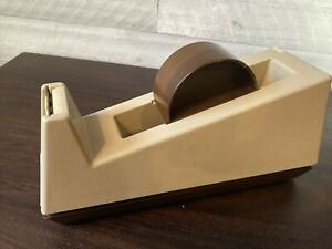 Heavy Duty Weighted 3 Tape Dispenser Scotch 3m Model C 25 Vintage