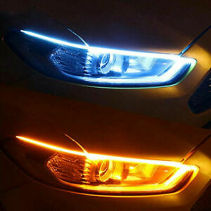 2pcs Auto Car Parts Soft Tube Led Strip Daytime Running Lights Turn Signal Lamps