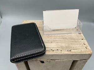 Leather Pocket Business Card Holder Plastic Card Holder