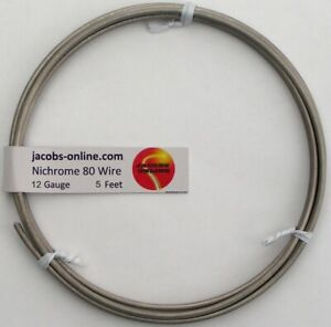 Nichrome 80 Resistance Wire 12 Awg gauge 5 Feet
