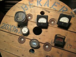 Vintage Panel Meter Gauges Lot