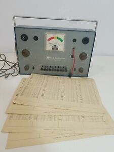 Vtg commercial Trades Institute Model Tc 10 Tube Checker W Data Sheets Untested