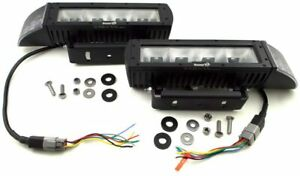 Buyers Abrams Led Heated Snow Plow Head Light Kit Low Profile Dual Mount 1312100