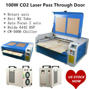Ruida Dsp1060 100w Co2 Laser Cutting Engraver Machine Auto Focus Xy Linear Guide