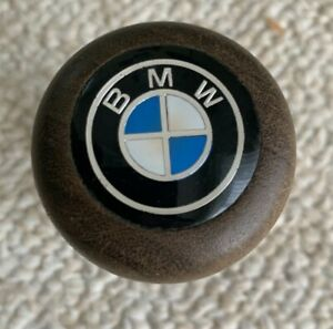 Bmw Logo Wood Shift Knob Push On 1980s Vintage Used