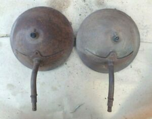 1915 1916 Model T Ford Headlight Buckets Original Pair