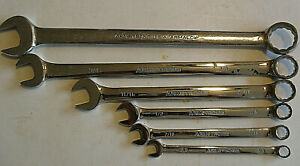 Armstrong 6 Pcs 12 Point Full Polish Combination Wrench Set 1 To 3 8