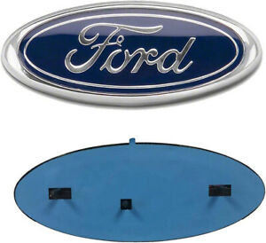 Ford Emblem 9 Inch F150 Front Grill Tailgate Blue Chrome 2004 2014
