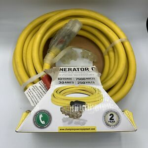 Champion 25 foot 30 amp 125 250 volt Fan style Generator Extension Cord L14 3