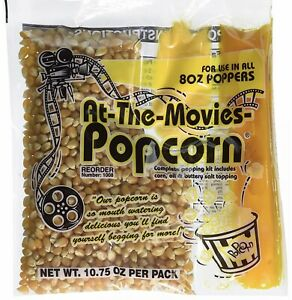 At the movies Popcorn Coconut Oil Portion Packs Case Of 15 8oz Kettle