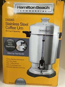 Hamilton Beach Commercial Stainless Steel Coffee Urn 60 Cup Capacity D50065