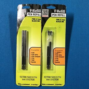 4 Refills F refill For Zebra F 301 F301 F 402 F 701 Stainless Steel Pen Black T5