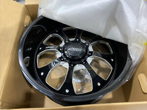 22x10 5 Bmf Payback Black Milled Wheels 6x5 5 6x135 25mm 1 Rim Only New