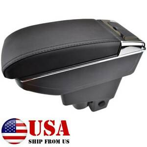 For Honda Fit Jazz 2002 2008 Duel Central Console Armrest Storage Compartment
