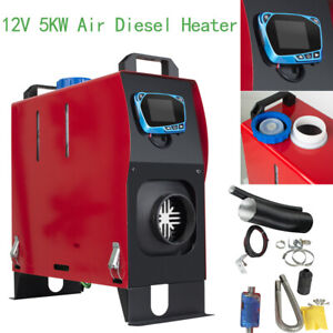 Portable 12v 5kw Air Diesel Heater Lcd Remote Control Truck Bus Car Van Boat A