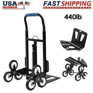 440lb Stair Climbing Climber Moving Dolly Hand Truck Warehouse Appliance Cart