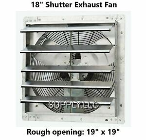 Commercial Wall Mount Shutter Exhaust Fan 18 Workshop Storage Garage Shed Barn
