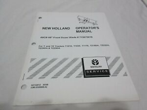 New Holland 60cb 60 Front Dozer Blade Operator s Manual 84134812 Buy It Now Oop