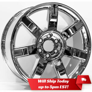 New 22 Replacement Chrome Alloy Wheel Rim For 2007 2014 Cadillac Escalade