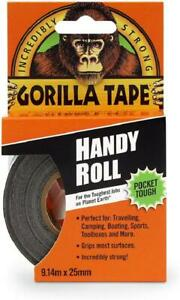 Black Gorilla Duct Tape Handy Roll All Weather Waterproof Adhesive Camping Kit