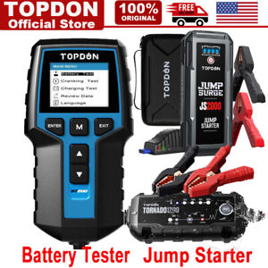 12v Automotive Car Battery Charger Tester 2000a 20800mah Jump Starter Booster