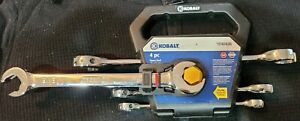 Kobalt 0747426 89869 4 Piece Sae Open End Ratcheting Wrench Set Brand New