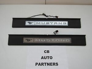 2015 2020 New Take Off Oem Ford Mustang Illuminated Door Sill Plates Set Of 2