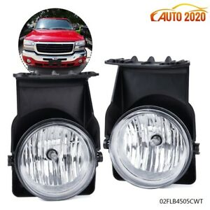 Bumper Fog Lights Lamps Left right Fit 2003 07 Gmc Sierra 1500 2500 3500 Pickup