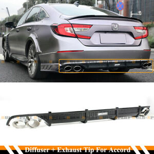 For 2018 2020 Accord Sport Touring Akasaka Quad Tip Exhaust Finisher Diffuser