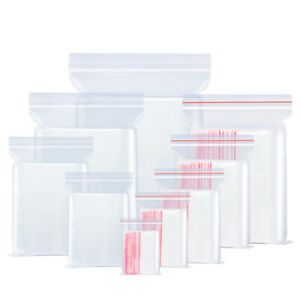 Clear Reclosable Zip Top Poly Plastic Storage Bags Jewelry Zipper Lock Baggies
