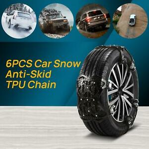 Snow Chains For Cars 6 Set Emergency Anti Slip Tire Straps Car Snow Chain For