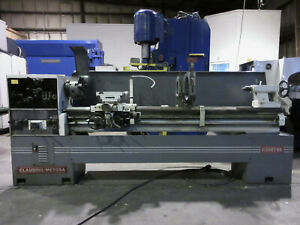 Clausing Metosa Engine Lathe 20 X 87 Inch metric Threading Gap Bed Mdl c2087ss