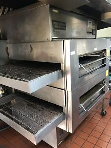 Middleby Marshall Ps 360swb Double Stack Gas Conveyor Pizza Ovens Wide Body