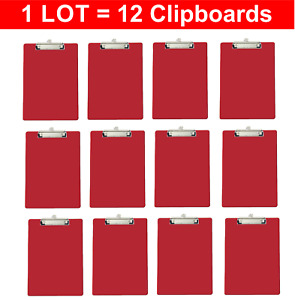Officemate Recycled Clipboards Red Lot Of 12 12 Clipboards 83043