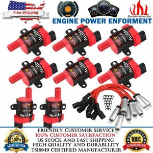 High Output Performance Ignition Coil Packs Plug Wires For Gm Lq4 Lq9 Ls1 Ls3
