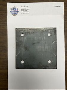 1pc Of 1 4 Steel Plate 1 4 X 6 X 6 A36 Steel With Holes For 3 8