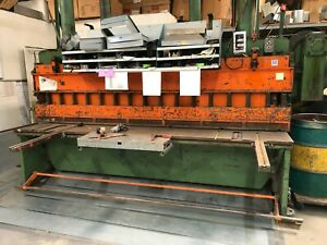 York Industries Rafter Hydraulic Shear Machine With Back Gauge Manual Stomp