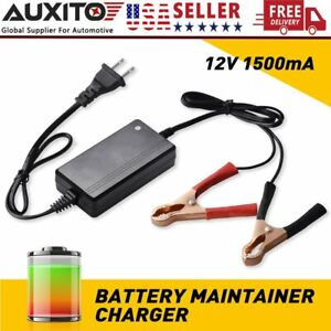 Automatic 12v Battery Charger Maintainer For Motorcycle Atv Car Float Trickle Rv