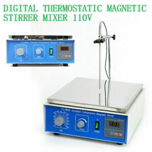 10l Digital Lab Thermostatic Hot Plate Magnetic Stirrer Mixer 110v