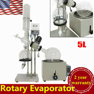 110v 5l Rotary Evaporator Lab Equipment Speed 0 120rpm min New Usa