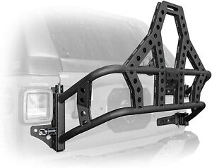 Dv8 Offroad Body Mounted Swing a way Spare Tire Cage For 18 21 Wrangler Jl