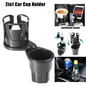2 In1 Universal Auto Car Seat Cup Holder Drink Coffee Bottle Mount 360 Rotating