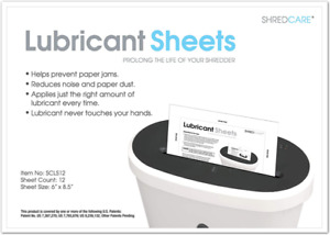 Paper Shredder Lubricant Sheets Office Products Accessories Kit White Pack Of 12
