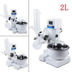 2l Rotary Evaporator Rotation Lab Equipment Water Bath Condenser 20 200rpm Usa