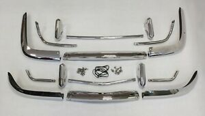 Vw Karmann ghia 1955 1969 Us Bumper Set Complete New