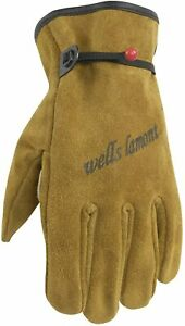 Wells Lamont Heavy Duty Leather Work Gloves Suede Cowhide Brown Medium 1001m